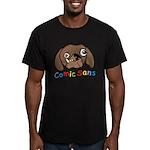 Comic Sans Men's Fitted T-Shirt (dark)