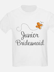 Pretty Wedding Junior Bridesmaid T-Shirt