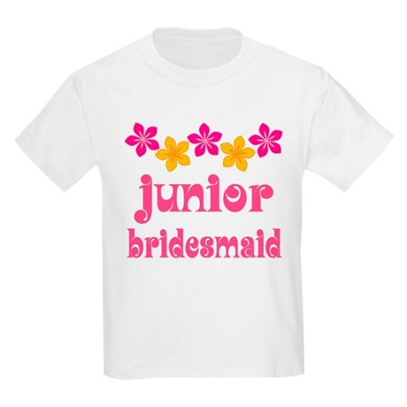 Junior Bridesmaid Tropical Hawaiian Kids Light T-S