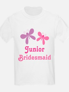 Butterflies Junior Bridesmaid T-Shirt