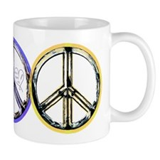 VINTAGE METALIC PEACE SIGN Mug