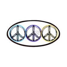 VINTAGE METALIC PEACE SIGN Patches