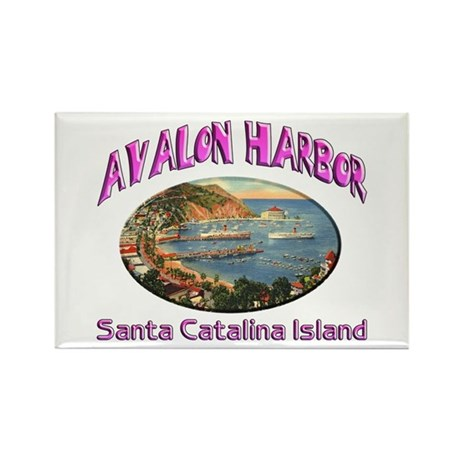 Avalon Harbor Rectangle Magnet (100 pack)