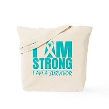 I am Strong Cervical Cancer Tote Bag