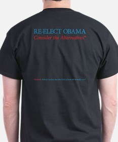 O44+4 Re-Elect Obama T-Shirt (black)