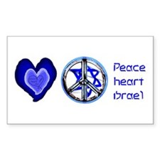PEACE HEART ISRAEL / JEWISH Decal