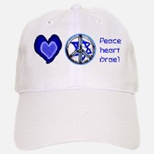 PEACE HEART ISRAEL / JEWISH Baseball Baseball Cap