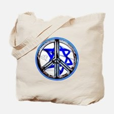 PEACE HEART ISRAEL / JEWISH Tote Bag