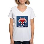 Ruboto Women's V-Neck T-Shirt