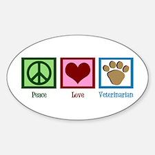 Cute Veterinarian Sticker (Oval)