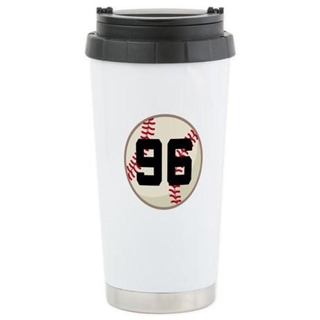 Baseball Player Number 96 Team Stainless Steel Tra