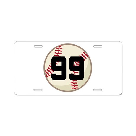 Baseball Player Number 99 Team Aluminum License Pl