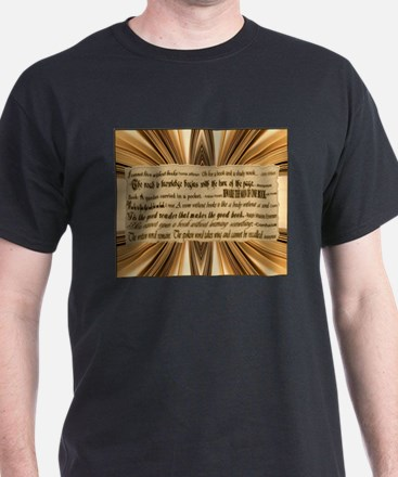 Quotes about Books Black T-Shirt
