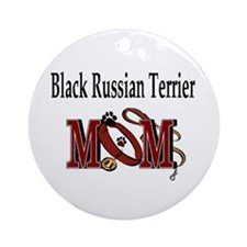 Black Russian Terrier Mom Ornament (Round)