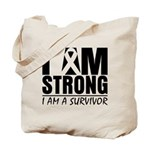 I am Strong Melanoma Tote Bag