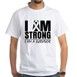 I am Strong Melanoma White T-Shirt