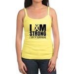 I am Strong Melanoma Jr. Spaghetti Tank