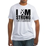 I am Strong Melanoma Fitted T-Shirt