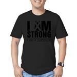 I am Strong Melanoma Men's Fitted T-Shirt (dark)