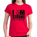 I am Strong Melanoma Women's Dark T-Shirt