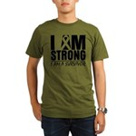 I am Strong Melanoma Organic Men's T-Shirt (dark)