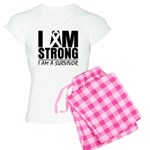 I am Strong Melanoma Women's Light Pajamas