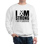 I am Strong Melanoma Sweatshirt