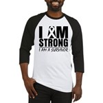 I am Strong Melanoma Baseball Jersey