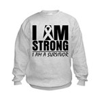 I am Strong Melanoma Kids Sweatshirt
