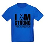 I am Strong Melanoma Kids Dark T-Shirt