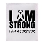 I am Strong Melanoma Throw Blanket