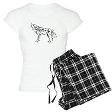 Tribal Howling Wolf Pajamas