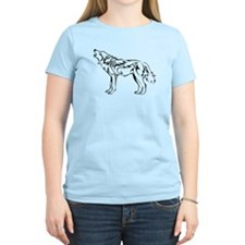 Tribal Howling Wolf T-Shirt