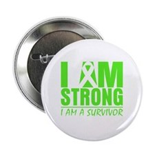 "I am Strong Lymphoma 2.25"" Button"