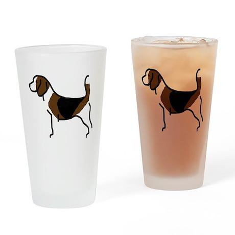 Beagle Pint Glass