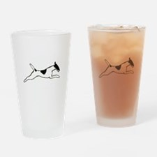 Leaping Smooth Fox Terrier Drinking Glass