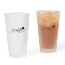 Black & White Leaping GSP Drinking Glass