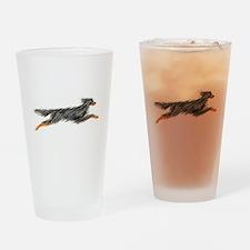 Leaping Gordon Setter Drinking Glass