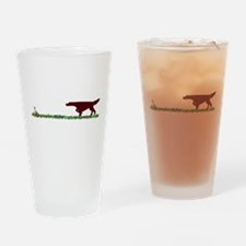 Irish Setter in the Field Pint Glass