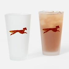 Leaping Irish Setter Drinking Glass