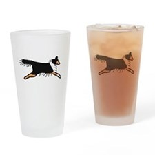 Tri-Color Sheltie Drinking Glass