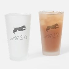 Weim Over the Broad Jump Drinking Glass