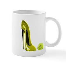 Mellow yellow stiletto shoe a Mug
