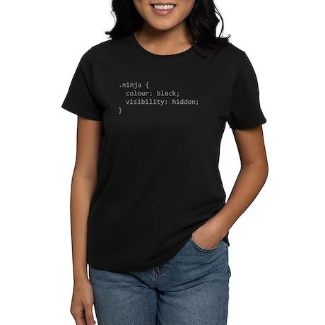 ninja coder design Women's Dark T-Shirt