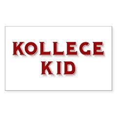 Kollege Kid Rectangle Decal