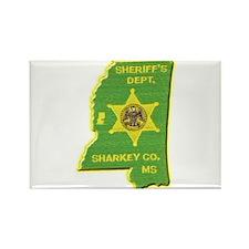 Sharkey County Sheriff Rectangle Magnet