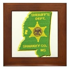 Sharkey County Sheriff Framed Tile