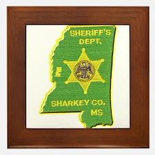 Sharkey County Sheriff Framed Tile
