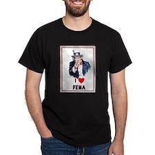 I Love FEMA - Black T-Shirt