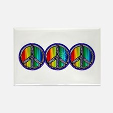 PEACE HEART GAY PRIDE Rectangle Magnet